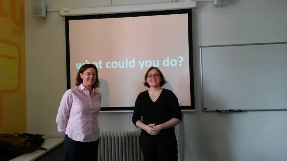 Guest speaker Alessandra Roversi and BSL's Professor Marina Curran